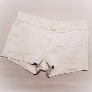 Harper White Denim Shorts